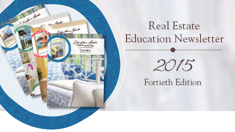 Real Estate Education Newsletter   2015 Fortieth Edition