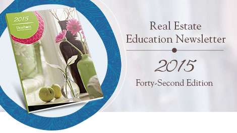 Real Estate Education Newsletter | 2015 Forty-First Edition