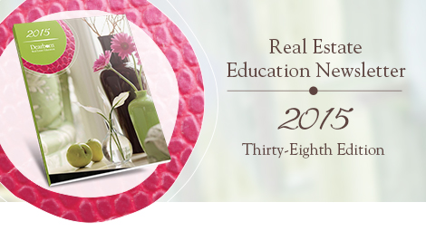 Real Estate Education Newsletter | 2015 Thirty-Eighth Edition